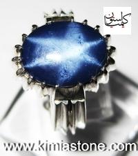 خرید انگشتر نقره دست ساز یاقوت استار یاقوت کبود ستاره ای
