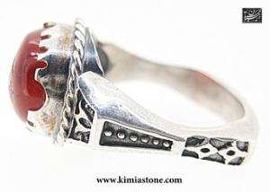 انگشتر نقره، عقیق سرخ یمنی، شرف الشمس