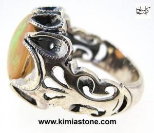انگشتر نقره اوپال آتشین Fire Opal