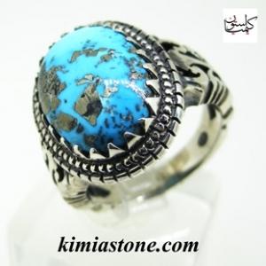 انگشتر نقره مردانه،فیروزه ایرانی